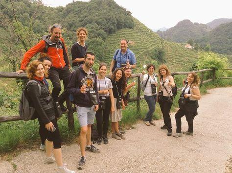 Blogger del tour marcatrevisoinverde con la referente Elisa Siciliano di Marca Treviso e Lara Santi di ZetaGroup
